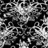 skulls black and white