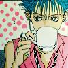 Shin Drinking Coffee