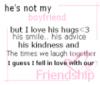 He's not my boyfriend