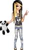 Emo Doll W/ Panda Bear