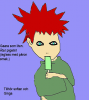 Gaara eats ice cream.