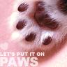 ;] paws...