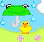 Cute ducky scene