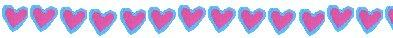 Blue with pink heart